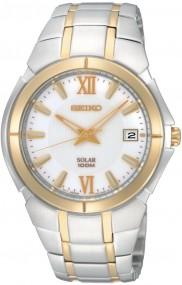 Seiko Solar SNE088P1 Elegante Herrenuhr Zeitloses Design