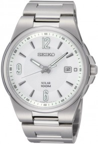 Seiko Solar SNE209 Elegante Herrenuhr Sehr gut ablesbar