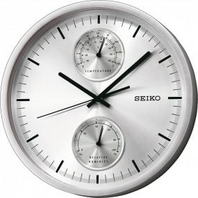 Seiko Clocks QXA525S Wanduhr Thermometer & Hygrometer