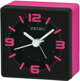 Seiko Clocks QHE091P Wecker Laufende Sekunde