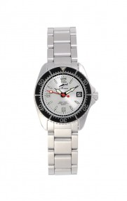 Chris Benz One Lady CBL-SI-SW-MB Elegante Damenuhr Taucheruhr