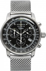 Zeppelin Chrono-Alarm 7680M-2 Herrenchronograph Made in Germany