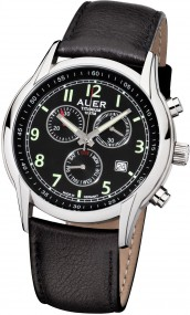 AUER Titanium Classic ZU-411-BLBR-LU Elegante Herrenuhr Made in Germany