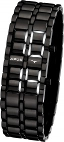 APUS Zeta Black White AS-ZT-BW LED Uhr für Herren Design Highlight