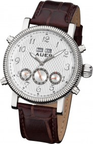 AUER Classic Collection BA-507-SlBrL Herren Automatikuhr Zeitloses Design