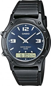 Casio Collection AW-49HE-2AVEF Legere Herrenuhr 2. Zeitzone