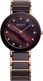 Bering Ceramic Collection 11429-765 Damenarmbanduhr Mit Keramikelementen