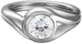 Esprit Jewel Glamour Solitaire ESRG92036A Damenring Rhodiertes Sterling Silber