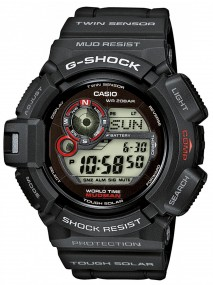 Casio G-Shock Tough Solar Mudman G-9300-1ER Sportliche Herrenuhr Kompass, Gezeiten, Thermometer