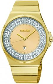 Seiko Elegant SXDF72P1 Damenarmbanduhr Mit Kristallsteinen