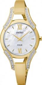 Seiko Solar SUP216P1 Damenarmbanduhr Mit Kristallsteinen