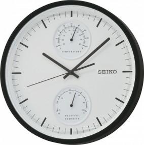 Seiko Clocks QXA525K Wanduhr Thermometer & Hygrometer