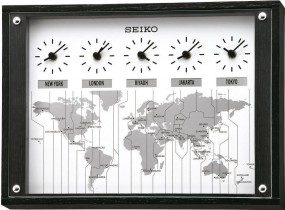 Seiko Clocks QXA539K Wanduhr Weltzeit