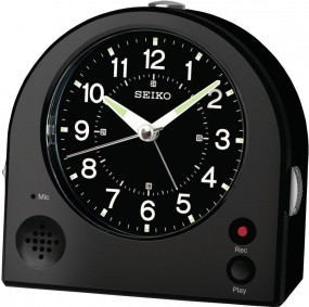 Seiko Clocks QHE081K Wecker Laufende Sekunde