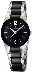 Festina Ceramic Collection F16534/2 Elegante Damenuhr Massives Gehäuse