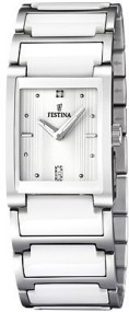 Festina Ceramic Collection F16536/1 Elegante Damenuhr Mit Keramikelementen