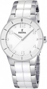 Festina Ceramic Collection F16531/1 Elegante Damenuhr Mit Keramikelementen