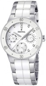 Festina Ceramic Collection F16530/3 Elegante Damenuhr Mit Keramikelementen