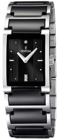 Festina Ceramic Collection F16536/2 Elegante Damenuhr Mit Keramikelementen