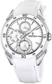 Festina Ceramic Collection F16394/1 Sportliche Damenuhr Mit Kristallsteinen
