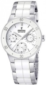 Festina Ceramic Collection F16530/1 Elegante Damenuhr Mit Keramikelementen