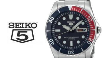 Seiko 5 mit Logo
